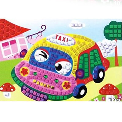Kinderpainting Taxi