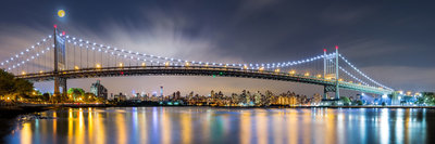 Panorama Triborough Bridge - vanaf formaat 120 x 40 cm